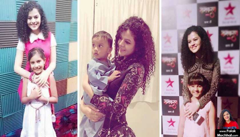 palak muchhal with kids